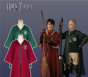 Nuevos disfraces de Halloween Harry Potter Robe Cloak Fashion Cape Cosplay Niños Adultos Gryffindor Slytherin Robe Cloak Performance Costume S-2XL