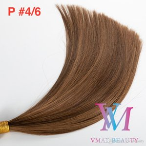 Piano Color Hand Tied Hair Weft Single Drawn Silk Straight Soft Natural Blonde Brown Mix Color Virgin Remy Human Hair Extension