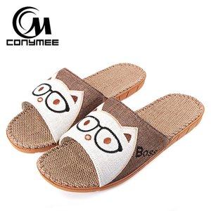 Scarpe CONYMEE sandali di estate degli uomini 2018 Moda coperta Pantofole Lino Zapatos Hombre piatto scarpe Slipper Casual Male