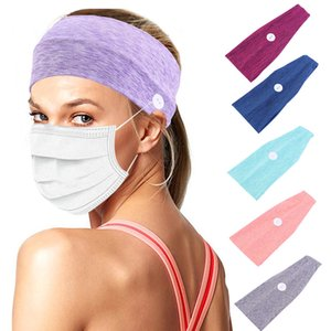Sports Headband with Button Protect Ear From Pain Elastic Sweat Band Yoga Cycling Sports Sweatband GYM Breathable Hair Band