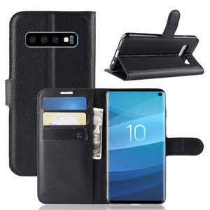 Luxury Simple Case For Samsung Galaxy S10 S10E S10 Plus S10+Case Cover Solid Color wallet Case