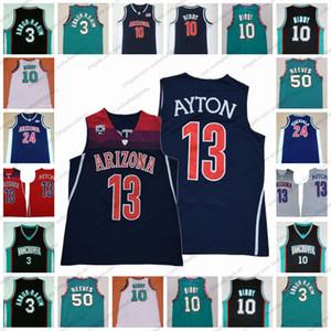 Arizona Wildcats 13 DeAndre 3 Shareef Ayton Abdur-Rahim NCAA # 22 Vancouver Koleji Basketbol # 10 Mike 50 Reeves Önlük Yeşil Retro Jersey