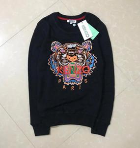 2020 Moda mais novo clássico vendas capuz Pull KZ Marca Cabeça quente bordado Hoodie do tigre Paris Unisex Casual Jumpers Streetwear