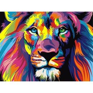 Pinturas 50x40cm DIY Pintar por números mano adulta pintado Animales Fotos pintura de aceite de regalos para colorear decoración de la pared por el envío de DHL