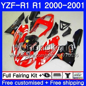 Corpo YAMA YZF 1000 YZF R 1 YZF-1000 Vermelho Santander YZFR1 00 01 Quadro 236HM.43 YZF-R1 00 01 Carroçaria YZF1000 YZF R1 2000 2001 Carenagem