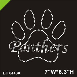Фигурное катание Пантер Paw горный хрусталь железа на передаче DIY DH0446 #