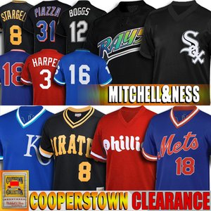 Räumungs 8 Bo Jackson 31 Mike Piazza Bryce 12 Wade Boggs 20 Pete Alonso 3 Jersey Harper Franco 8 Willie Stargell Günstige Baseball-Shirts