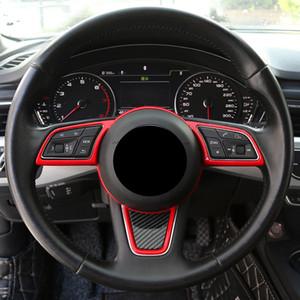 توجيه السيارات التصميم الديكور عجلة الإطار غطاء تريم ABS لأودي A3 A4 8V B9 A5 2017-2019 الداخلية اكسسوارات السيارات