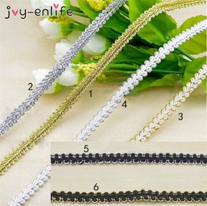 5m lot High Quality Trim Sewing Gold Silver Centipede Braided Lace Ribbon DIY Clothes Accessories Curve Lace Wedding Decor