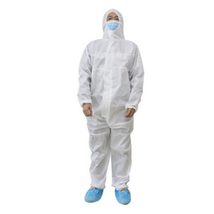 Factory Outlet Waterproof Isolation Clothes Protective Clothing Hazmat Suit Disposable Gown Non woven Full Body Coverall Protection Sets
