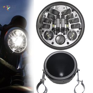 5.75inch LED phare pour Dyna Low Rider avec kits de phares DRL 70W