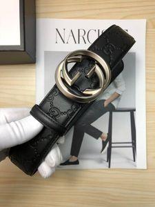 أزياء الرجال حزام من الجلد الأعمال الابازيم حزام حزام أسود العلامة التجارية عالية الجودة رجل إمرأة حزام أحزمة الأعمال هدية مع مربع 48527