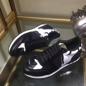 Nuevos zapatos de diseñador Color Camoufalge Spikes Rockrunner Sneaker Moda Mujeres Hombres Zapatos casuales Zapatillas de deporte Chaussures de diseñador Caja original