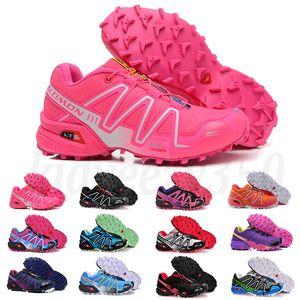 Salomon Speed Cross 3 4 kadın Erkek Solomons Speedcross 3 CS Trail Günlük Ayakkabılar kadınların Hafif Sneakers Donanma Solomon III Zapatos Su geçirmez kadın atletik Sho A55
