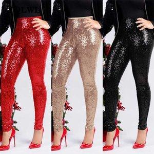 FQLWL Glitter Sequin Sexy Skinny Pants Women Trousers Push Up High Waist Black Pants Female Winter Club Pencil Bodycon
