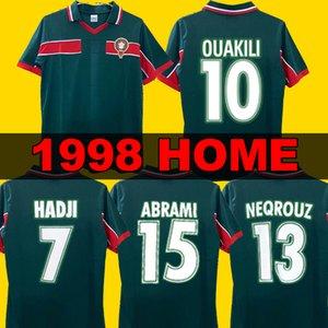 Ретро-классика 1998 morocco soccer jersey года дома на Кубке Марокко футбол футболки HADJI OUAKILI NEQROUZ BASSIR 98 футболка
