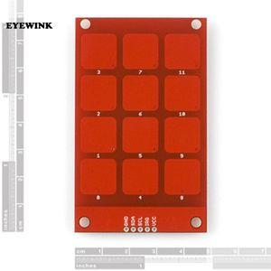 10 unids MPR121 Capacitivo Touch Keypad Shield Módulo Clave Sensible Teclado 3.3 V Lógica Para Arduino Diy Kit Diy Electrónico Pcb