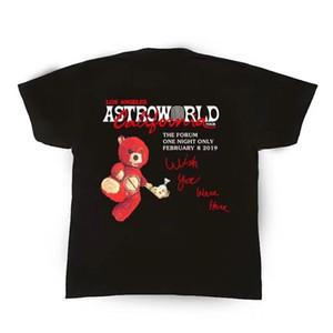 19ss Трэвис Скотт astroworld футболка Wen 1:1 Высокое качество футболки Лос-Анджелес тур форум тройники ASTROWORLD футболки T200420