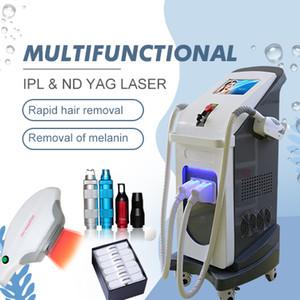Горячая продажа Вертикальная двумя ручками IPL устройство неавтоматического удаления волос IPL ND YAG система для лазерной терапии