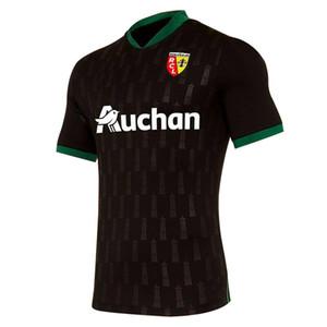 2020-21 sezonu forması yetişkin Futbol Formalar için RC Lens yeni uzakta formaları 2020 2021 RC Lens Sotoca S.Banza shirt T-shirt