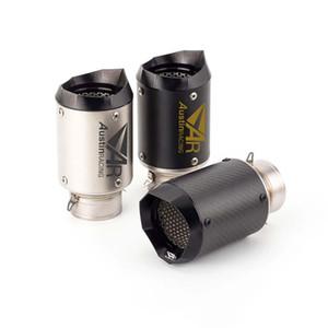 AR 60 millimetri Aspirazione Motorcyle tubo di scarico Silenziatore Per GW250F GW250 S1000RR S1000XR Z900 GSXR1300 R DUKE RC 390 250 125