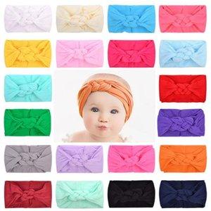 20 개 색상 아기 머리띠 키즈 탄성 머리띠 중국어 매듭 파티 헤어 액세서리 헤어 밴드 모자 어린이 탄성 헤어 밴드 YYA103