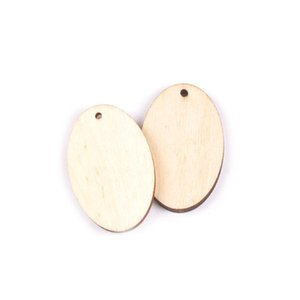 20pcs Natural Wooden Craft Diy Drop Ellipse Shape Pendant For Earring Jewelry Scrapbooking Handmade Home Ornaments 40 46mm M1961