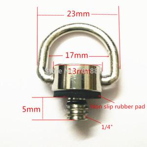 Livraison gratuite 50 PCS 1/4 D Ring Camera DSLR Adaptateur à vis pour reflex rapide Sling Strap plaque de dégagement rapide Photographie Studio Accessoires