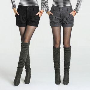 Free Shipping women's winter Shorts Girls 2020 fashion korea type mid waist slim hip plus size new arrival elegant woolen shorts