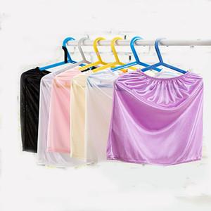 Mulheres Half deslizamentos Fino Sexy Lace Elastic cintura fina roupa interior preto respirável deslizamento Half-comprimento da saia hip pacote deslizamentos