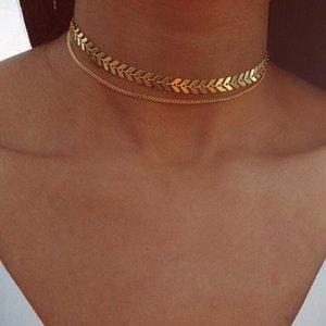 Moda Mulheres Colar Colar longo Dangle Jóias Fish Bone cadeia de jóias Ornamentos Fantástico Choker colares Pendientes