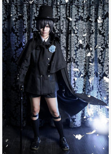 Ciel Phantomhive Cosplay Halloween Party Homme Femme cosplay japonais Anime Black Butler Costumes Black Dress