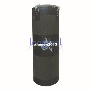 60Lb 35 '' Army Green Fitness Training Unfilled Boxing Punching Bag Sandbag Sand Punch Bag (Vuoto) Catena di Metallo Spedizione Gratuita