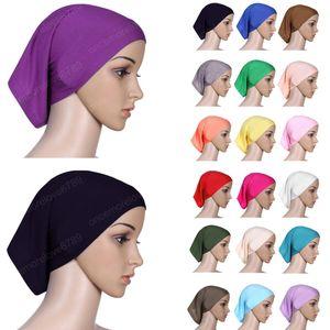 Mujeres musulmanes bufanda principal Cotton Stretch underscarf Hijab cubierta Turbante underscarf Cap Mantón Islam bufanda interna diadema Capó