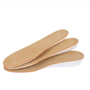 1205 Breathable Pig Skin Unisex Height Increased Insoles Invisible Heightening Increasing Heel Lifting Inserts Shoe Pads Elevator Cushion