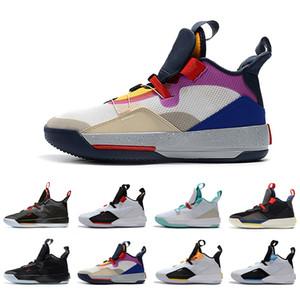 Görünür Programı Üniversite Kırmızı XXXIII PF 33 Erkek Basketbol Ayakkabı CNY Utility Blackout Uçuş Geleceği Tech Pack 33 s Erkekler spor sneakers