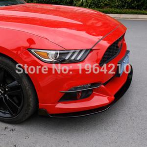 Toptan Ford Mustang Için 2015 2016 2017 Dış Ön Sis Işık Lambası Göz Kapağı Kaş Şeritleri Trim Sticker 2 Adet Araba aksesuarları