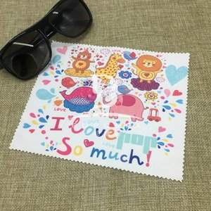 High-grade superfine fiber digital printing cleaning cleaning thermal transfer printing glasses cloth cute cartoon glasses cloth