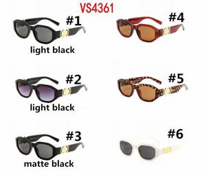 Pequeñas Gafas De Sol Retro Redondas Hombres Mujeres Remache Leopard Tea Shades VS4631 Vintage 2019 Gafas De diseño Oculos UV400 6 colores Gafas De Sol