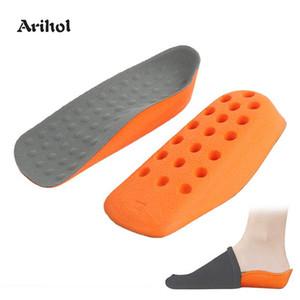 Halbe Länge Höhe Zunahme Einlegesohlen Schuhe Pad für Männer Frauen Senkfusseinlage Fersensporn Taller Ferse heben Insert 1.6cm 2.1cm