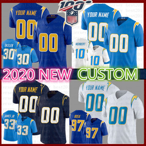 Personalizado 2020 Los Kenneth Murray Angeles Jersey carregadores Junior Seau Austin Ekeler LaDainian Tomlinson Lance Alworth Hunter Henry ntonio Portões