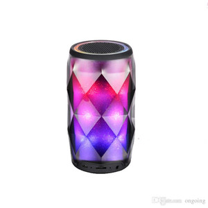 Crystal Can Diamond Bluetooth Speaker Seven Color Change Portable Wireless Speaker For Outdoor Subwoofer Support TF Card Mic Better Charge 3