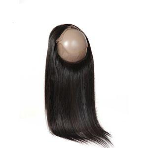 브라질 헤어 360 레이스 정면 폐쇄와 아기 헤어 사전 Pluked 스트레이트 100 % 레미 인간의 머리 (360) 폐쇄 자연 색상