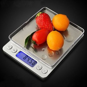Digital Kitchen Scale 3000g / 0.1 g 500g / 0.01 g Stainless Steel Precision Jewely Electronic Balance Balance Gold Grams Measure Tool T200326
