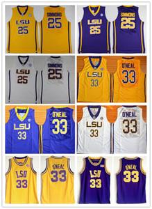 NCAA LSU Tigers College Ben Simmons Jersey Montverde Academy Eagles Shaquille O'Neal Mejores camisetas de baloncesto verde de Cole High School cosida