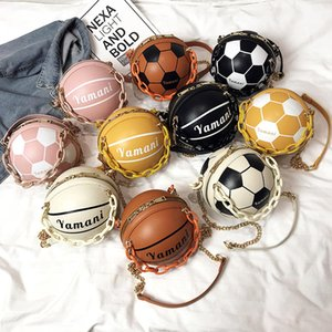 Rodada Bolsas para as mulheres senhora acrílico bolsas cadeia mensageiro futebol Basketball forma criativa moda engraçado Tote Bolsa Feminina
