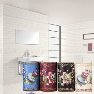PVC Self-Adhesive Wallpaper Borders Waistline 3D Flower Pattern Baseboard Living Room Bathroom Kitchen Tiles Stickers