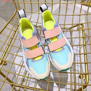 2019 zapatillas de deporte con el último color a juego con cinta de neopreno Grosgrain, zapatos de suela de goma envolvente con diseño de dama de diseñador