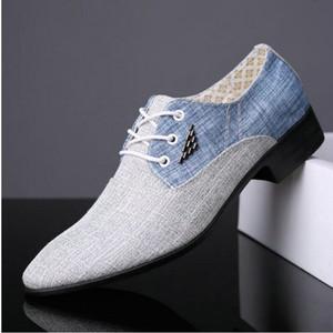 Fashion Canvas Mens Dress Shoes Shoesd Toe Oxford Shoes For Men Casual Men Formal Business Business Calzature da lavoro maschio