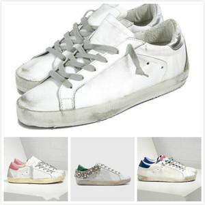 إيطاليا ديلوكس العلامة التجارية أحذية رياضية الذهبي الترتر الأبيض الكلاسيكي إفعل القديمة أحذية القذرة مصمم سوبر ستار رجل جديد أزياء النساء أحذية عارضة